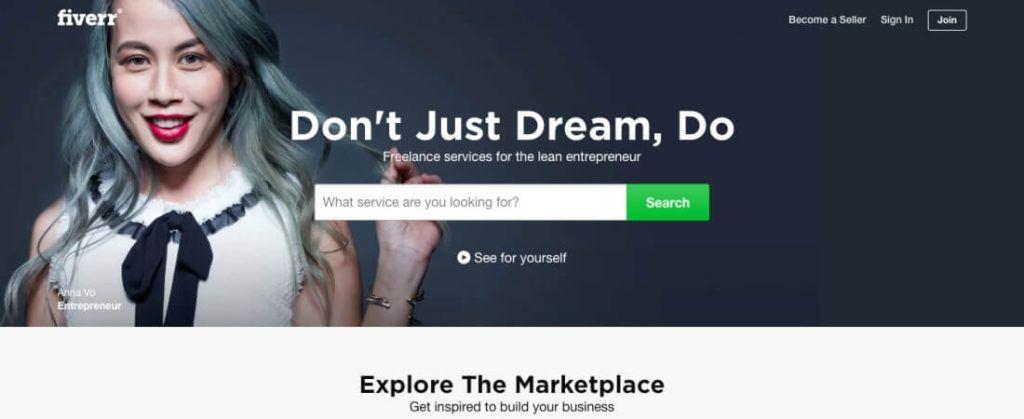 trabajar freelance en fiverr , uno de los mejores sitios de trabajo freelance